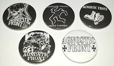 5 Agnostic Front button badges Minor Threat Dead Kennedys Conflict Discharge