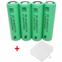 4X Battery 18650 VTC6 3000mAh 3.7V Li-ion High Drain Rechargeable&Case For Vape