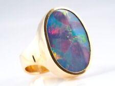 Echtschmuck aus Gelbgold mit 54 (17,2 mm Ø) Opal