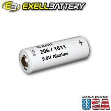 Exell 206A Alkaline 9V 110mAh Battery NEDA 1611 Replaces ER-206, H-7D