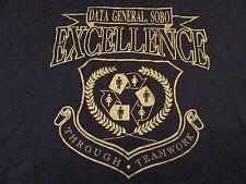 Vintage Data General Tech Excellence Through Teamwork Black T Shirt Size XXXL