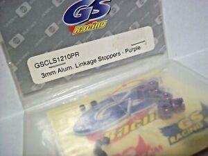 VINTAGE GS RACING 3mm ALUMINUM LINKAGE STOPPERS - PURPLE RC 10 SCALE xxxnt GT