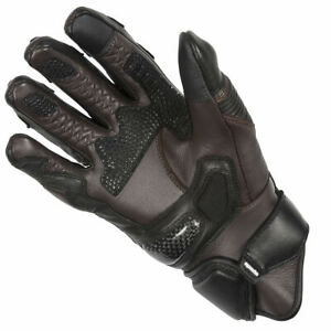 Spada Sled Dog Motorcycle Motorbike Leather Waterproof Lined Gloves - Brown