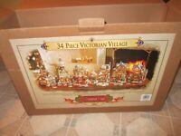 *NEW* GRANDEUR NOEL 34-PIECE VICTORIAN VILLAGE 2000 COLLECTOR'S EDITION VILLAGE