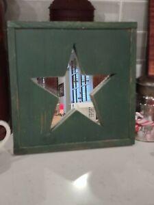 Handmade Wooden Star Mirror