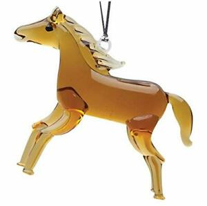 Hand Crafted Glass Christmas Tree Ornament or Figurine, Horse