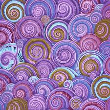 Fat Quarter Kaffe Fassett Spiral Shells LAVENDER - Rowan Cotton Quilting Fabrics