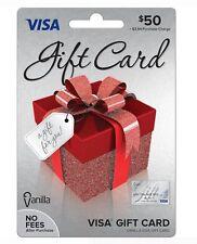 $50 Visa Card - Ready to use - No fees - Free Shipping