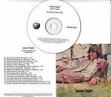 JAMES TAYLOR James Taylor 2010 UK Apple remastered 16-track promo test CD