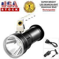 Aluminum Portable Searchlight Handheld Spotlight LED Rechargeable Flashlight