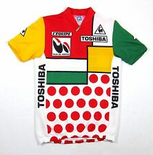 VTG Santini Colorblock Cycling Jersey Shirt L Tour De France Sportif Piet 80s