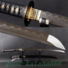 Handmade Katana Clay Japanese Samurai KATANA KILL BILL SWORD Folded Steel Blade