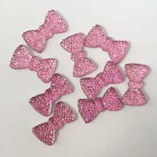 Hot 20pcs 12*20mm Resin bow /Flat Back Appliques Scrapbooking for phone/Wedding