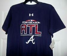 36cc7b354f9 Atlanta Braves Under Armour ATL MLB Major League Baseball M Shirt With Tags