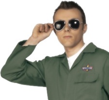 1980s Pilot Army Glasses Fancy Dress Military Captain Glasses Costume Accessory