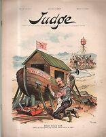 1894 Judge August 18-Hill builds his life-saving tariff bill ark anti income tax