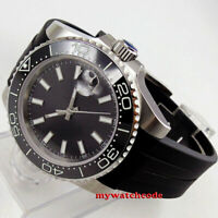 40mm bliger black dial luminous Ceramic Bezel sapphire automatic mens watch B175