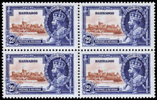 Barbados Scott 188 Block of 4 (1935) Mint LH F-VF C