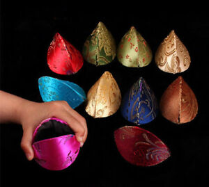 10PC Chinese STYLE SILK FORTUNE COOKIE COIN PURSE Colorful Case Squeeze Ring Bag