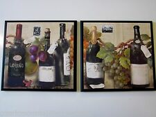 Wine & Grapes Kitchen Wall Decor Plaques Italian French Bistro signs pictures