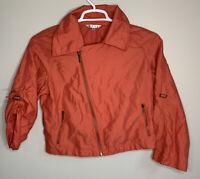 Women's CAbi Coral Asymmetric Zip Cropped Jacket/Blazer Size Medium Buckle M