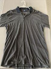 Pebble Beach Dark Blue Striped Men's Short Sleeve Polo Size XL