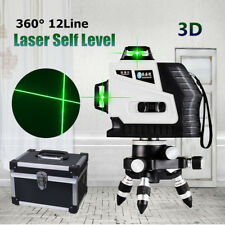 12 Line 360° Rotary Laser 3D Cross Self Leveling Vertical Horizontal Level Green