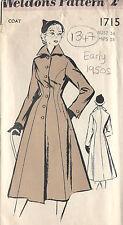 1950s Vintage Sewing Pattern B34 COAT (1347)