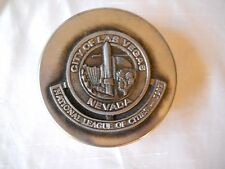 City of Las Vegas National League of Cities 1987 Pewter top Collector's Box
