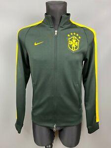 BRASIL NATIONAL TEAM BRAZIL TRACK FOOTBALL SOCCER JACKET NIKE 589852-337 SIZE S