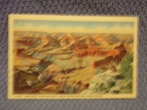 Vintage Postcard Northwest From Pima Point, Grand Canyon National Park, Arizona