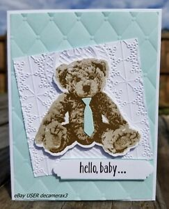 Handmade Welcome Baby Card, STAMPIN' UP! Baby, Boy, Girl,