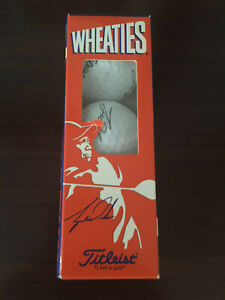 Titleist Wheaties Tiger Woods Golf Balls One Sleeve of 3 Balls Masters PGA Rare