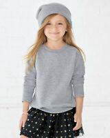 Rabbit Skins Toddler Kids Warm Fleece Crewneck Sweatshirt Fall Winter NEW RS802