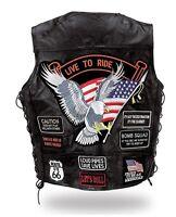 "Gilet jacket en cuir "" Aigle / Live To Ride "" [ S M L XL 2XL 3XL 4XL 5XL ]"