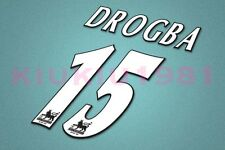 Chelsea Drogba #15 PREMIER LEAGUE 97-06 White Name/Number Set