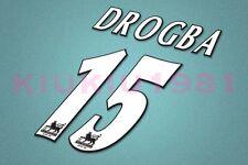 Chelsea Drogba #15 PREMIER LEAGUE 97-06 White Name/Number Set