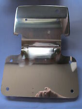 06-3724S NORTON COMMANDO SQUARE REAR LAMP NUMBER PLATE HOLDER STAINLESS
