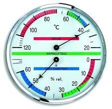 TFA 40.1013 Sauna Thermometer-Hygrometer Saunauhr analog Dampfbad Bimetall Klima