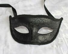 Black Venetian male Mask Masquerade F-02BK for Party & Display