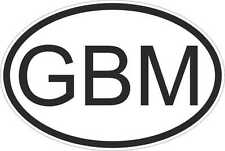 OVAL sticker flag country code bumper decal car laptop isle of man manx GBM