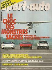 SPORT AUTO 263 1983 BILAN F1 LAMBORGHINI COUNTACH 5000S FERRARI BB512i 911 TURBO