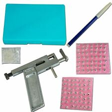 Professional Ear Nose Navel Body PIERCING GUN Tool Kit set jewelry 98 studs USA
