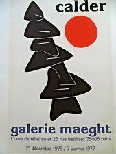 CALDER Affiche originale litho 1976 Mobiles Stabiles Soleil Poster