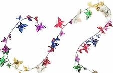 Skd Party Multi-Color Butterfly shaped Tinsel Wire Garland (50ft)