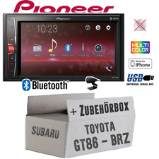 Autoradio Pioneer 2-DIN Bluetooth MP3 USB Einbauset für Toyota GT86 Subaru BRZ