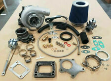 T3/T4 Hybrid Turbocharger Kit T3 T4 Turbo -3an ss line, Downpipe, BOV, Stage 1