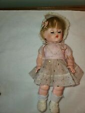 "Vintage Horsman 13"" Doll--Beautiful Outfit  Soft Vinyl Blue Eyes Blond Hair"