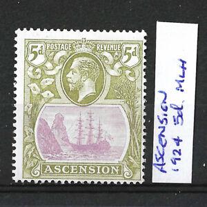ASCENSION 1924 KGV 5d OLIVE PURPLE MINT, MLH