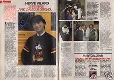 Coupure de presse Clipping 1990 Hervé Vilard   (2 pages)